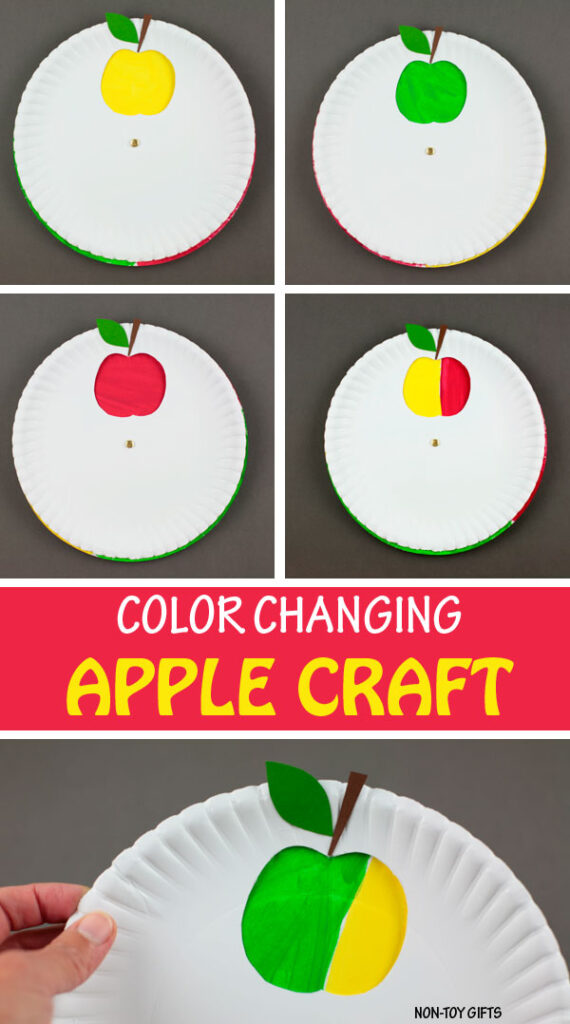 Color changing apple craft kids