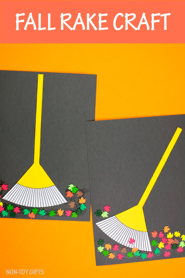 Fall rake craft for kids