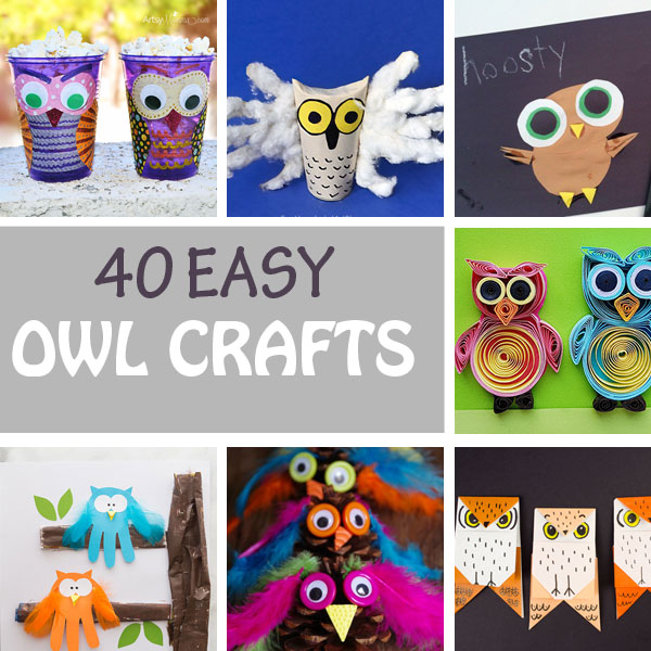 Owl crafts for teachers, kids and parents
