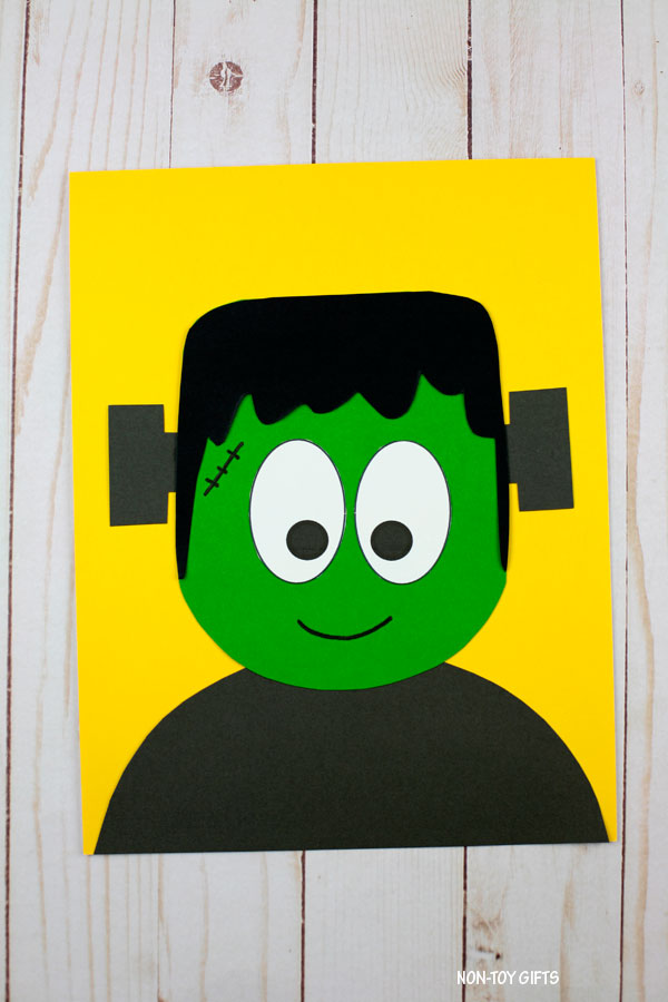 Easy Frankenstein craft for kids