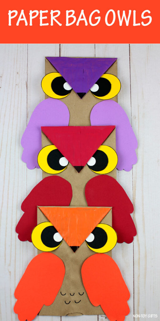 Paper bag owl craft for kids