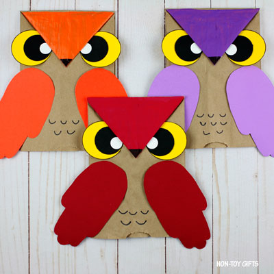 Paper Bag Owl Craft