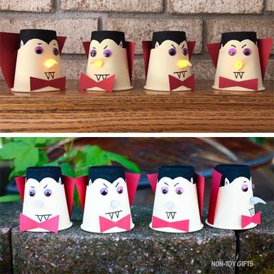 Paper cup vampire craft