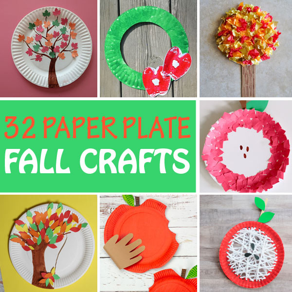 Easy paper plate fall crafts for kids