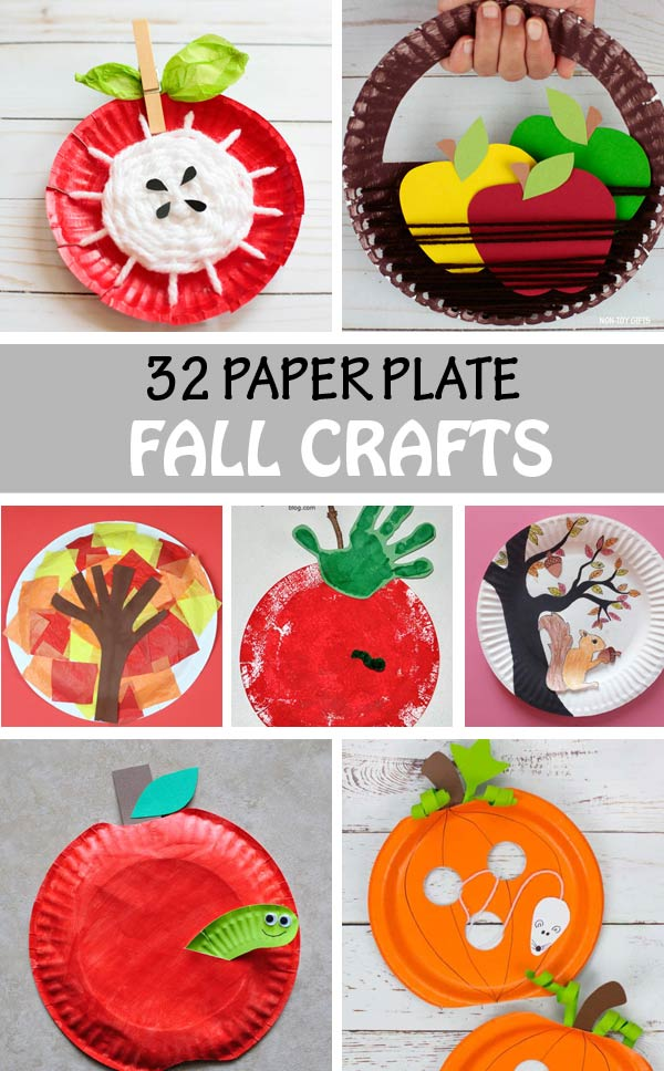32 paper plate fall crafts for kids