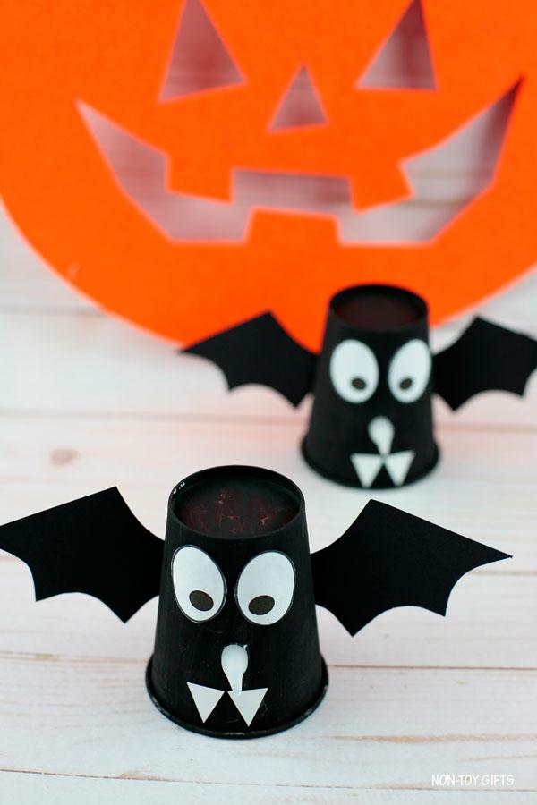 paper cup bats for kids