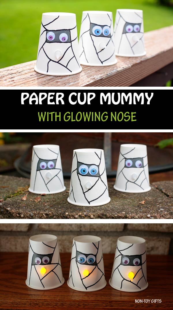 Paper cup mummy