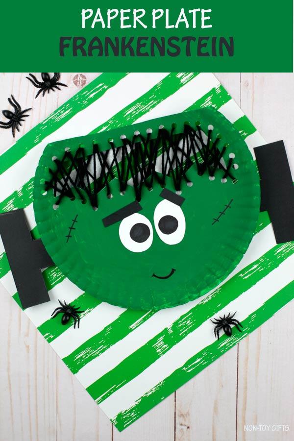 Paper plate Frankenstein