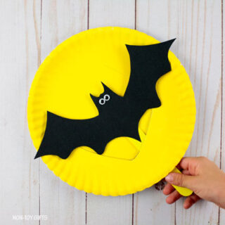 Paper Plate Flying Bat Craft
