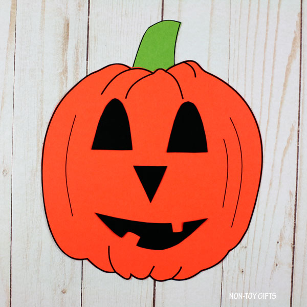 Roll a Jack-O-Lantern game and craft
