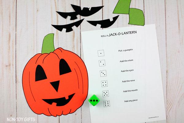 Build a Jack-O-Lantern game