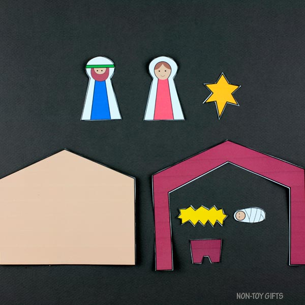 Nativity craft template