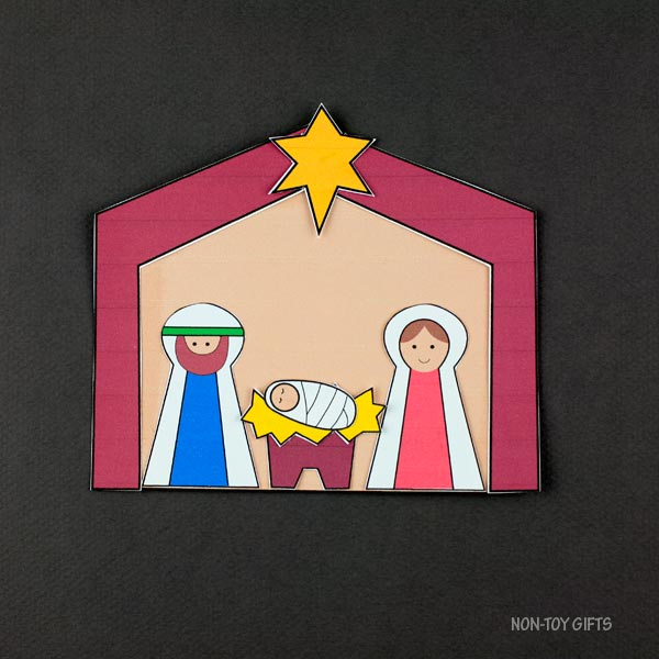 Christmas nativity craft for kids