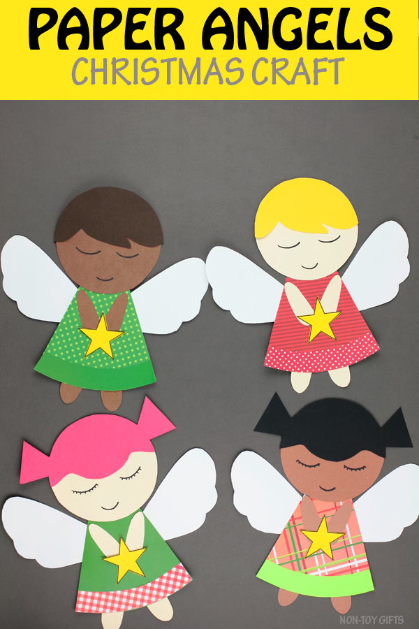 Paper angels for kids