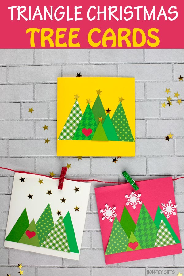 Triangle Christmas tree cards