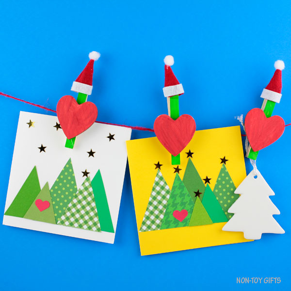 Use these Grinch clothespins for your Christmas card display.