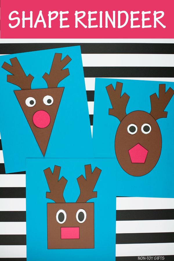 Shape reindeer craft