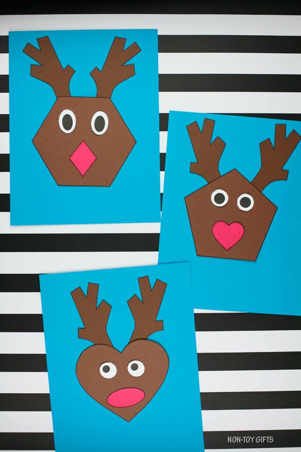 Shape reindeer craft for kids