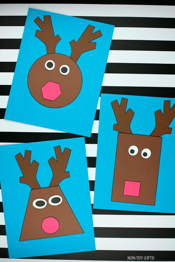 Reindeer shape craft for kids