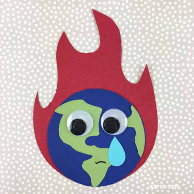 Climate change craft for kids