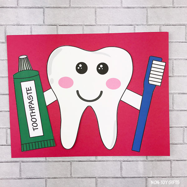 Dental tooth craft template