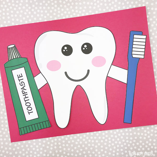 Tooth craft template for kids