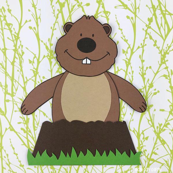 Groundhog craft for preschoolers and older kids