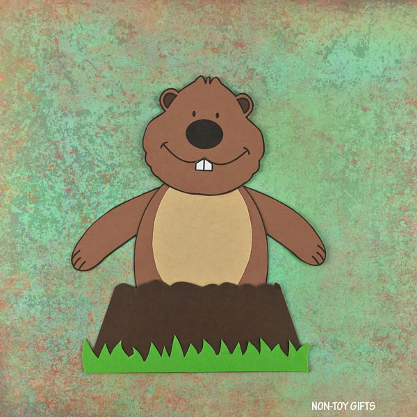 Groundhog Day craft for kids