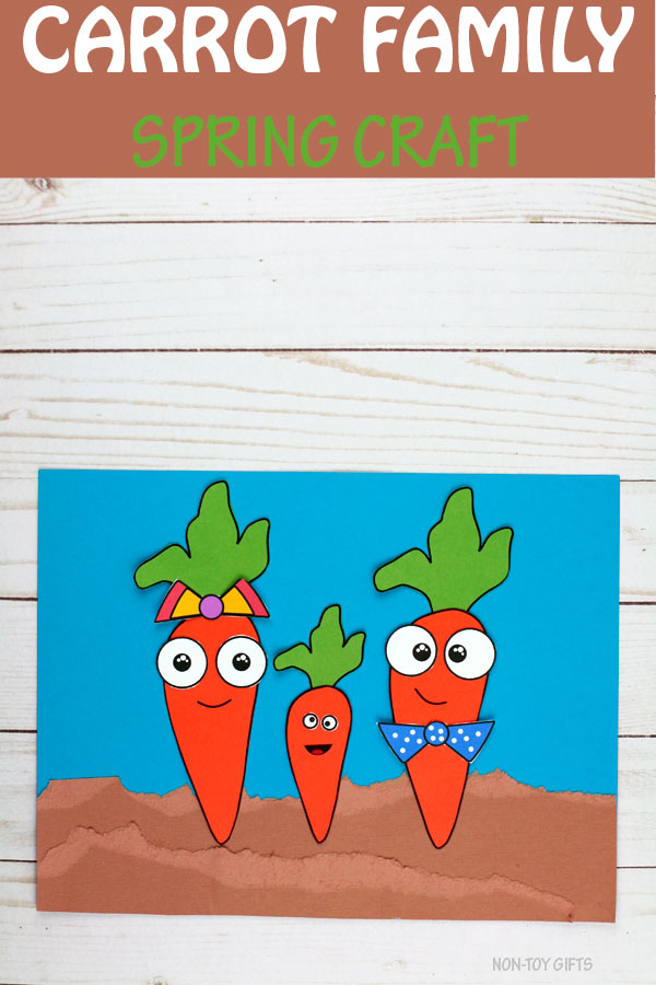 Carrot family craft for kids