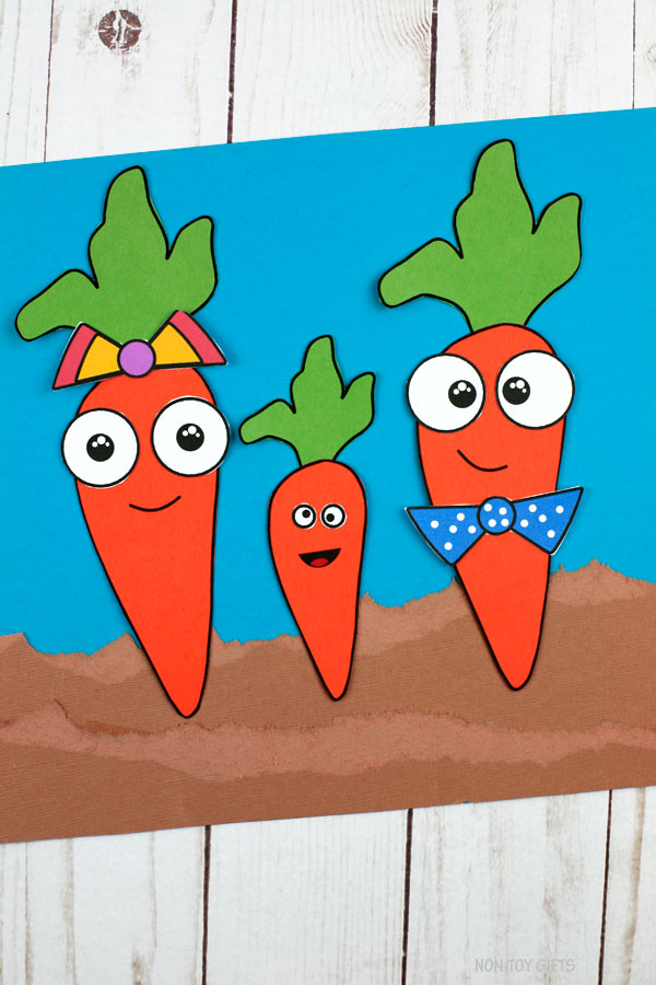 Carrot family craft for spring