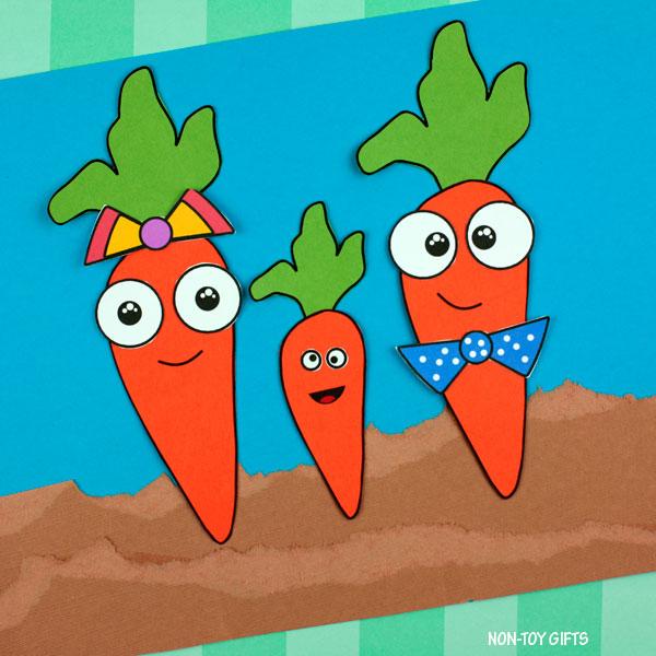 Spring garden carrot craft