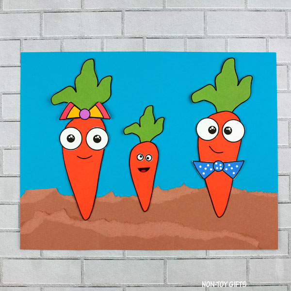 carrots in dirt