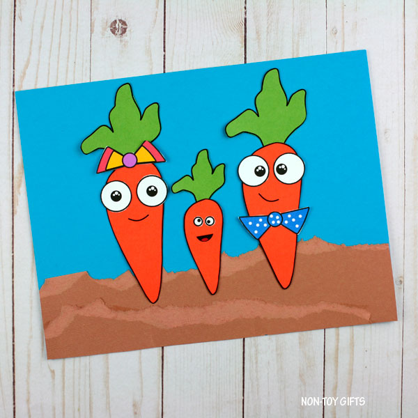 Garden carrot craft
