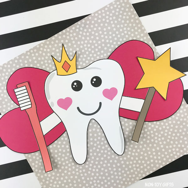 Tooth fairy craft template