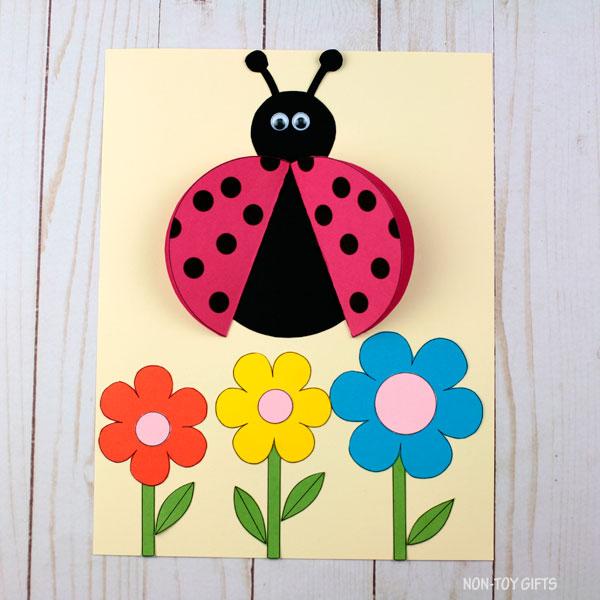 3d ladybug craft - eyes