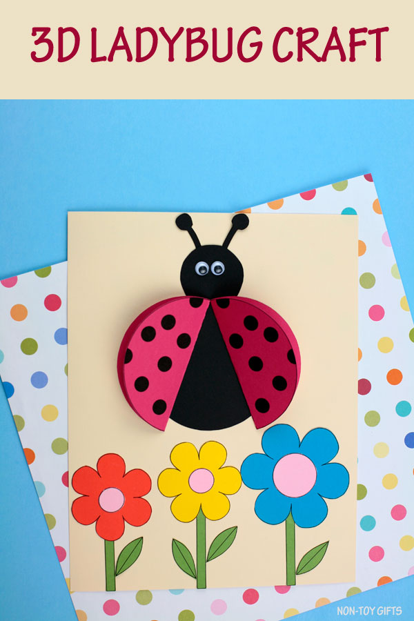 3D ladybug craft for kids