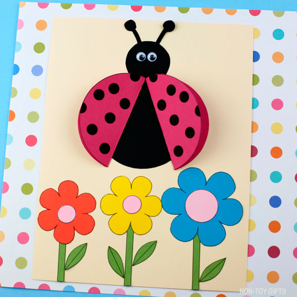 Ladybug craft with 3D wings
