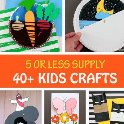 40+ 5 Supply Or Less Kids Crafts