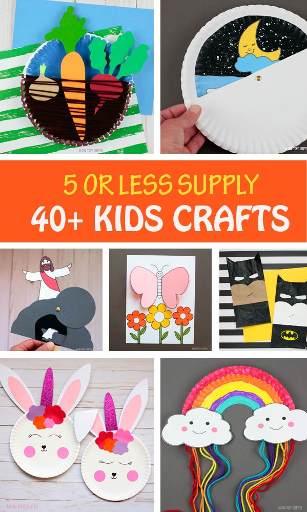 5 or less supply kids crafts