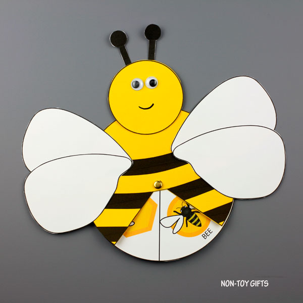 Honey bee life cycle craft for kids