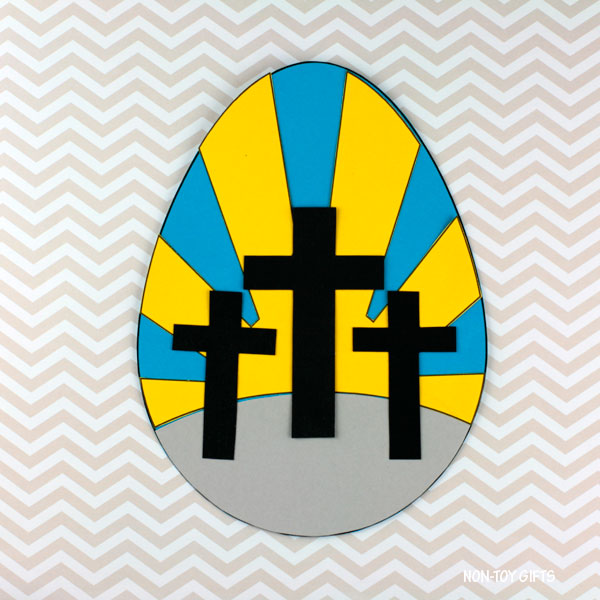 He Is Risen! Easter craft for kids