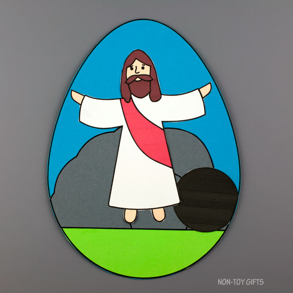 Easter egg religious craft