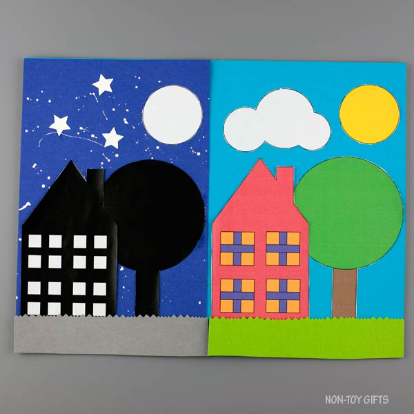 House day and night craft preschool
