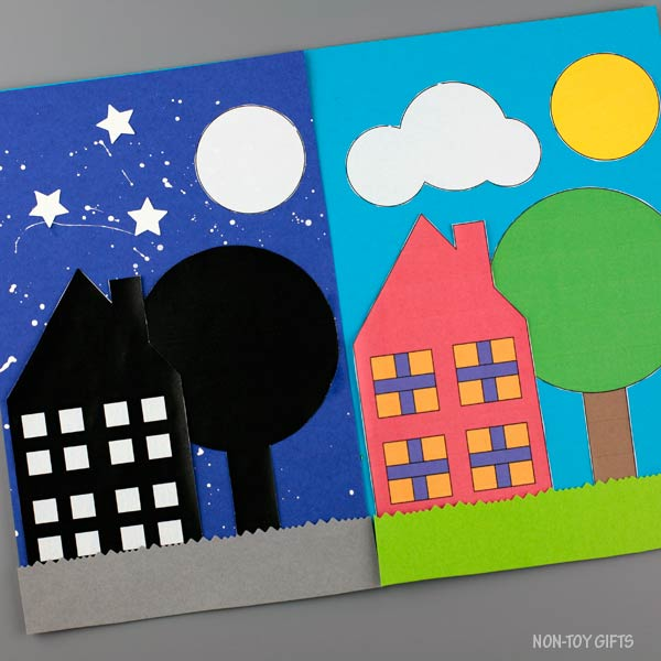 House day and night craft for kids