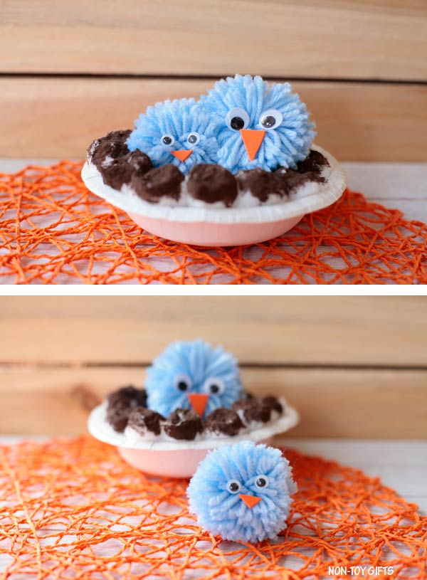 pom pom bird craft for preschoolers and older kids