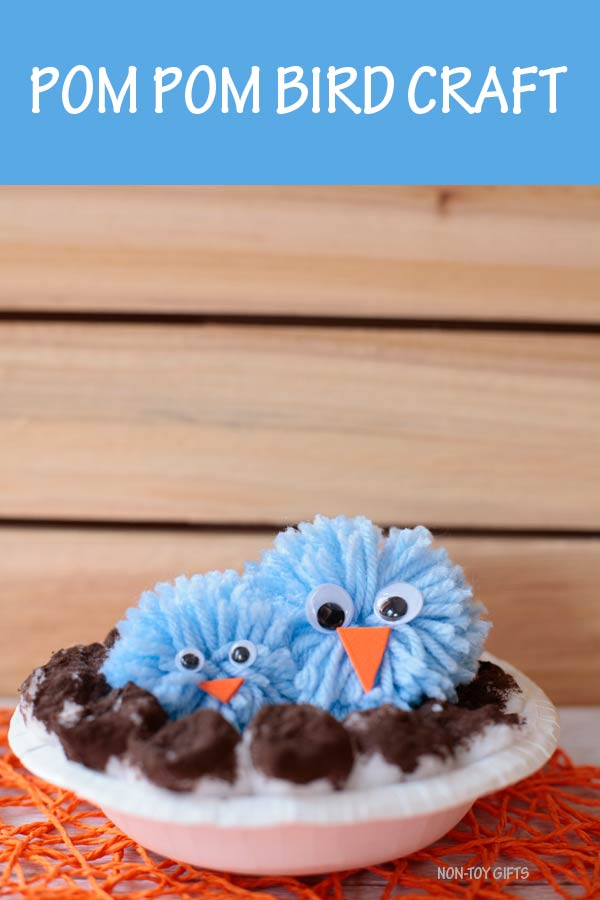 Pom pom bird craft for kids