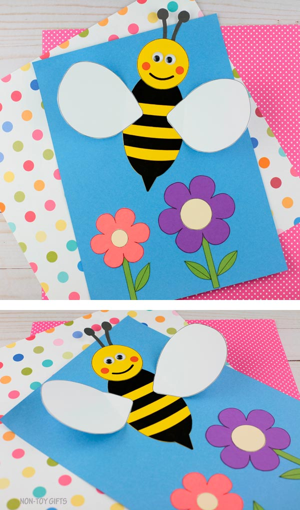 3D bee craft for preschoolers and older kids