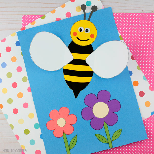 Spring bee craft for kids