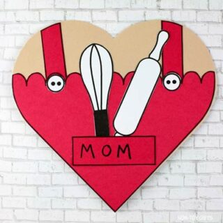Baker Mom Heart Card