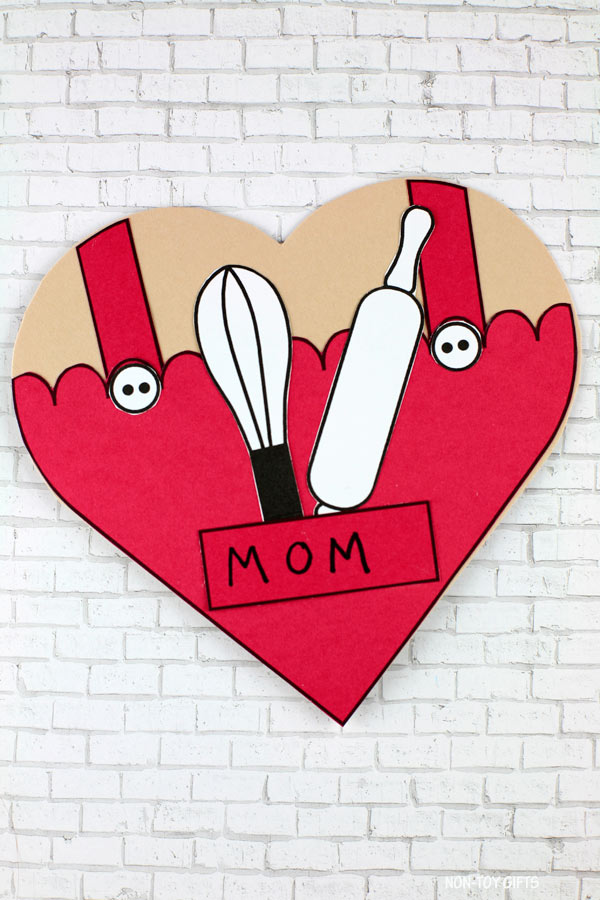 Heart card for mom or grandma who loves to bake